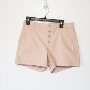 Old Navy shorts pale pink high waisted 4 button 8